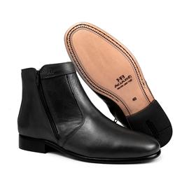 Bota Social Hb Agabe Boots - 400.002 - Pl Preto - Solado de Couro