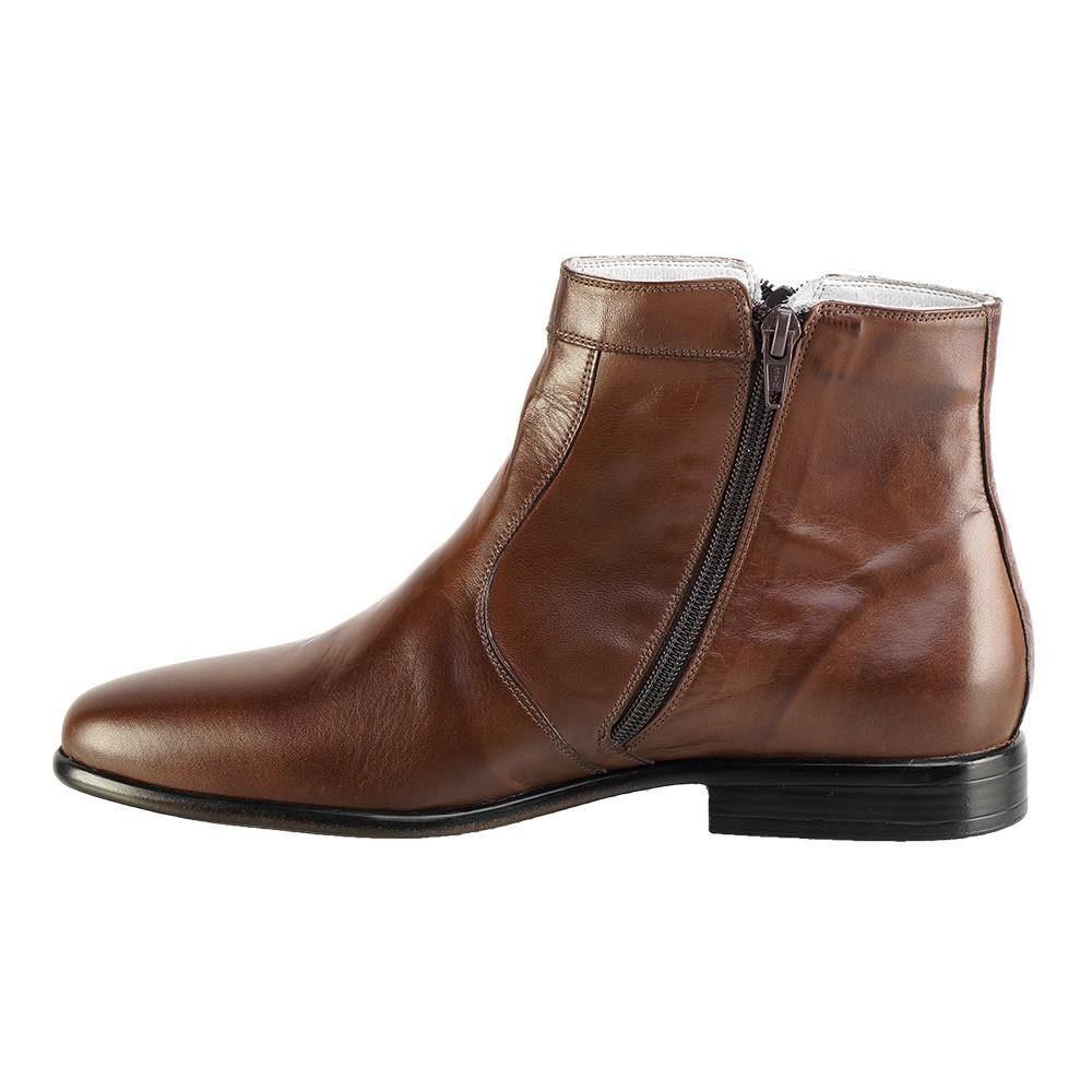 Bota Social Hb Agabe Boots - 400.002 - Pl Tabaco - Solado de Couro