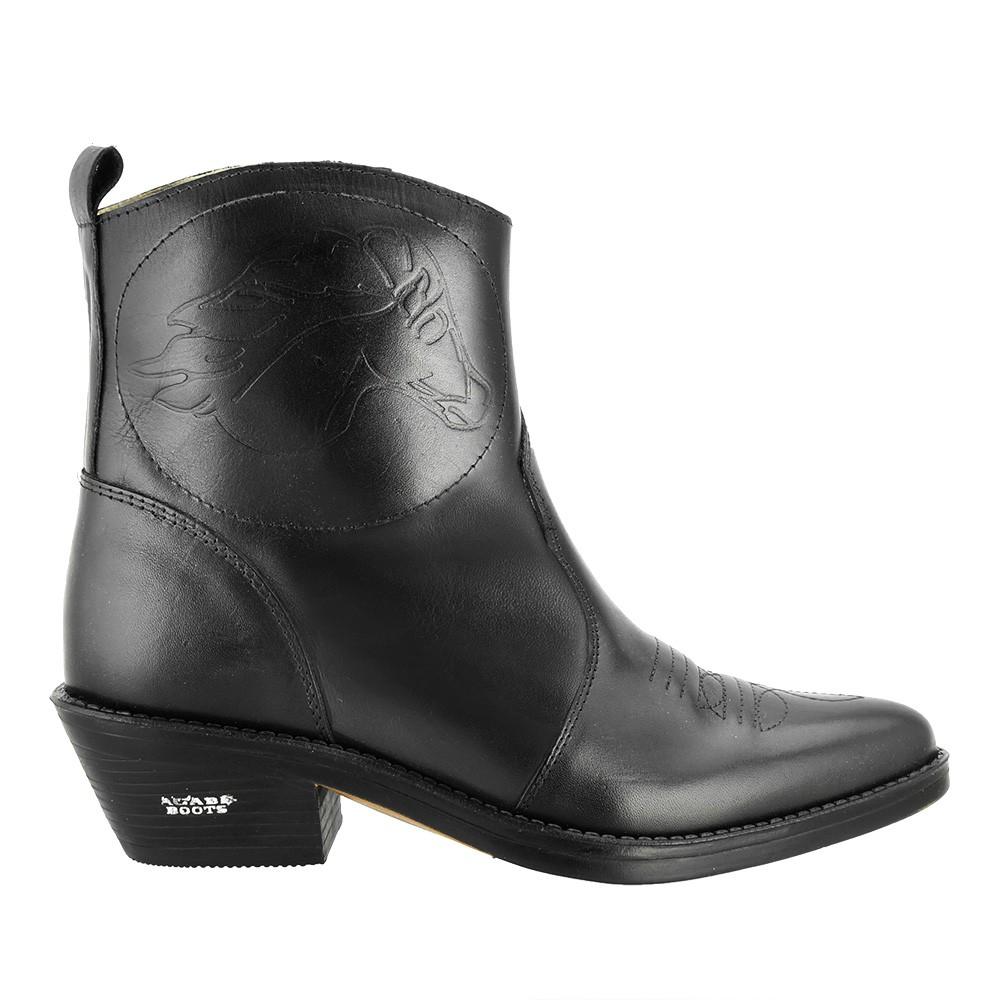 Bota Texana Hb Agabe Boots 102.000 - Lt Preto - Solado de Couro com Borracha