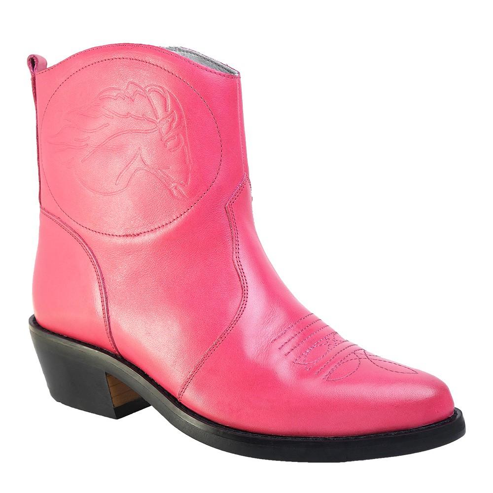 Bota Texana Hb Agabe Boots 102.000 - Lt Rosa - Solado de Borracha
