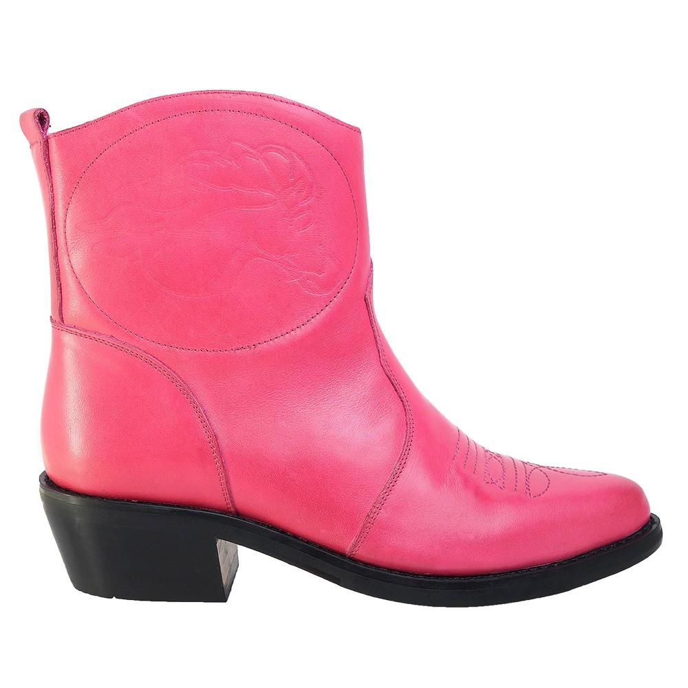 Bota Texana Hb Agabe Boots 102.000 - Lt Rosa - Solado de Couro com Borracha