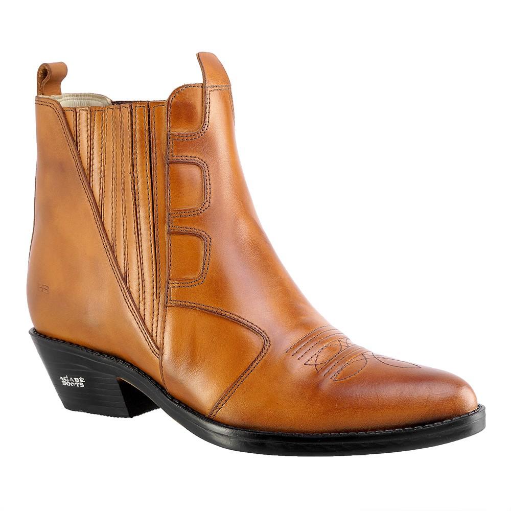 Bota Texana Hb Agabe Boots 102.005 - Lt Havana - Solado de Borracha