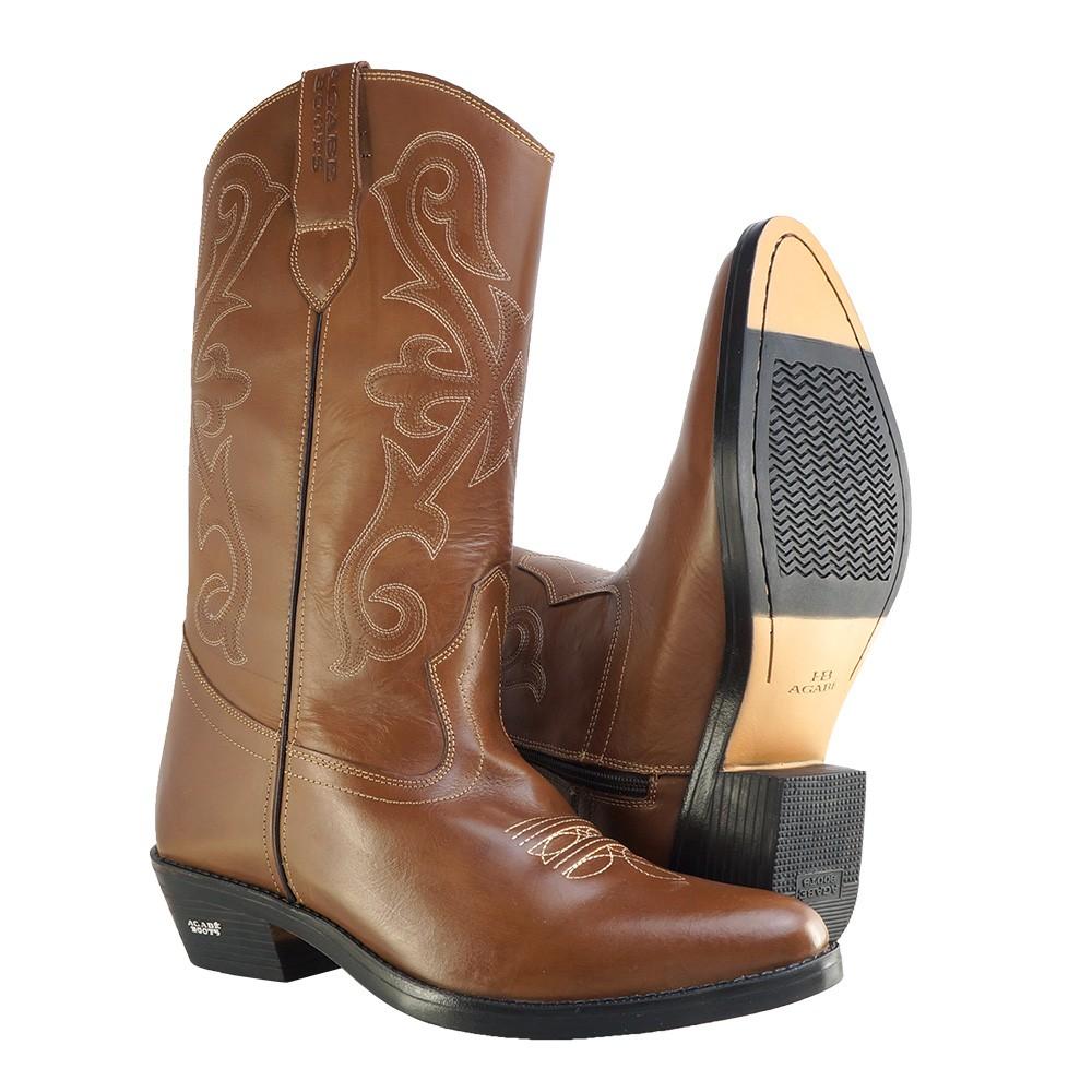 Bota Texana HB Agabe Boots 200.002 - Lt Marrom - Solado de Borracha