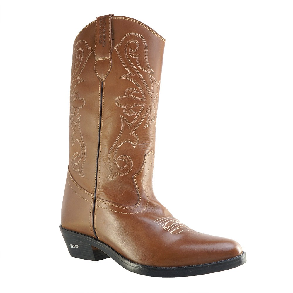 Bota Texana HB Agabe Boots 200.002 - Lt Marrom - Solado de Couro com Borracha