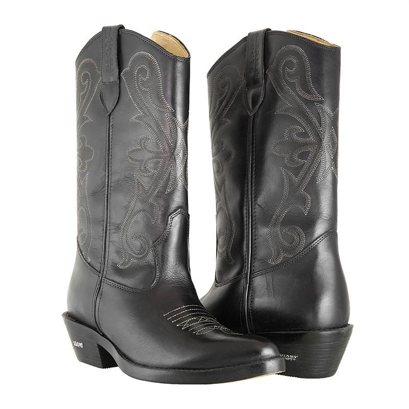 Bota Texana HB Agabe Boots 200.002 - Lt Preto - Solado de Couro com Borracha