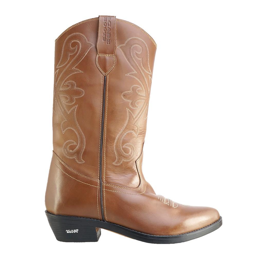 Bota Texana HB Agabe Boots 200.003 - Lt Marrom - Solado de Borracha