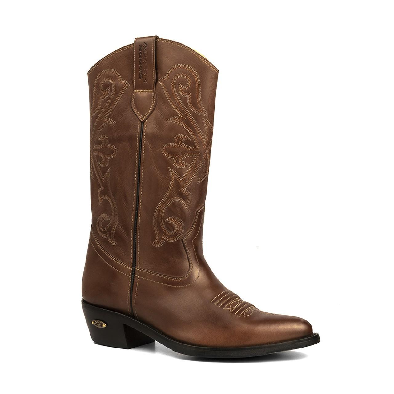 Bota Texana HB Agabe Boots 200.004 - Lt Marrom - Solado de Borracha
