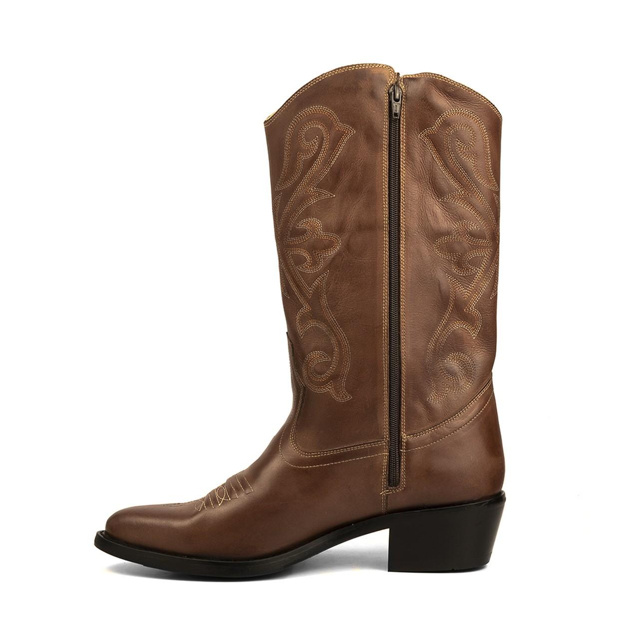 Bota Texana HB Agabe Boots 200.004 - Lt Marrom - Solado de Couro com Borracha