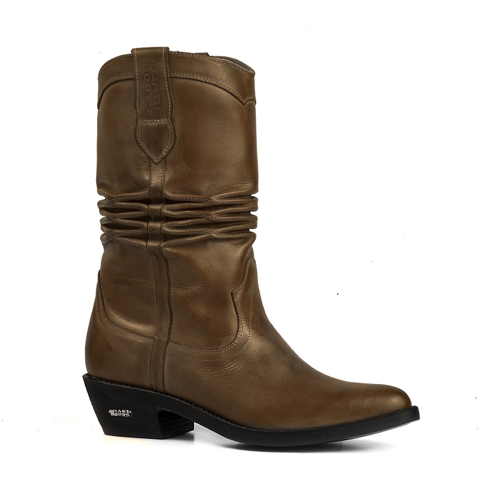 Bota Texana HB Agabe Boots 200.000 - Lt Marrom - Solado de Couro com Borracha