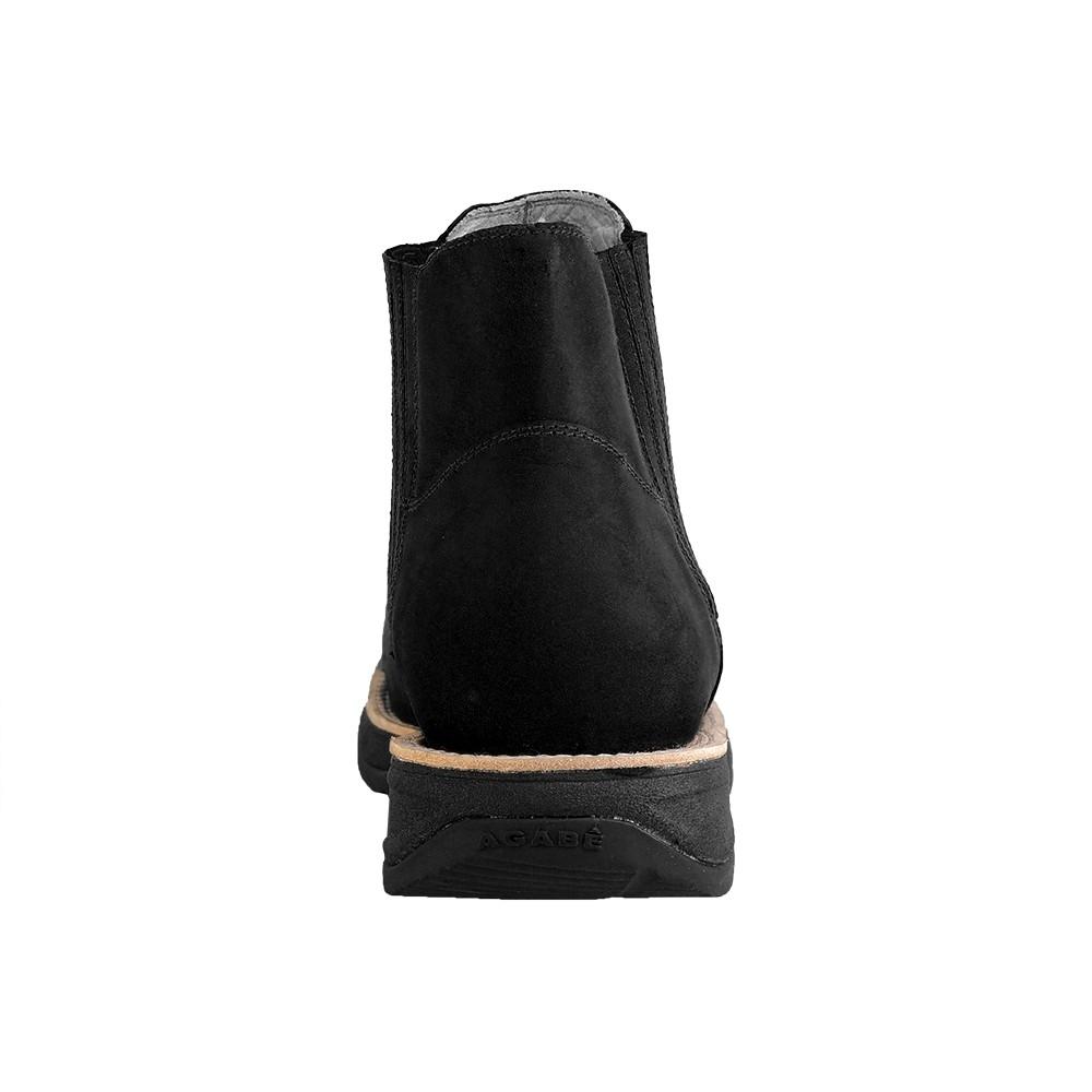 Bota Western Hb Agabe Boots 421.000 - Bt Preto - Solado de Borracha + Cunho PVC