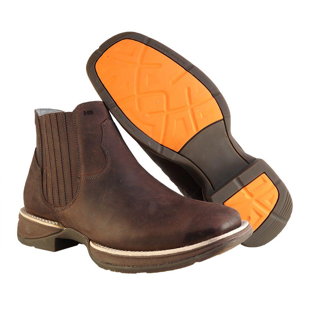 Bota Western Hb Agabe Boots 421.000 - Ch Tabaco - Solado de Borracha + Cunho PVC