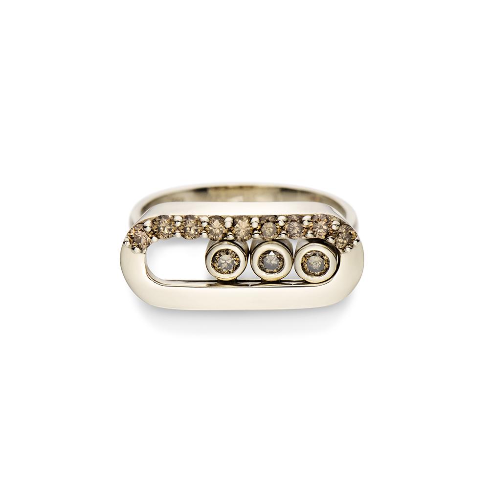 Anel de Ouro 18K e Diamantes - Coleção Floating Diamonds