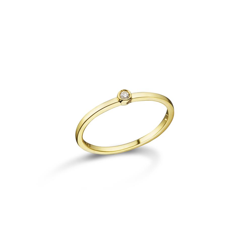 Anel de Ouro 18K e Diamante - Coleção H'eras