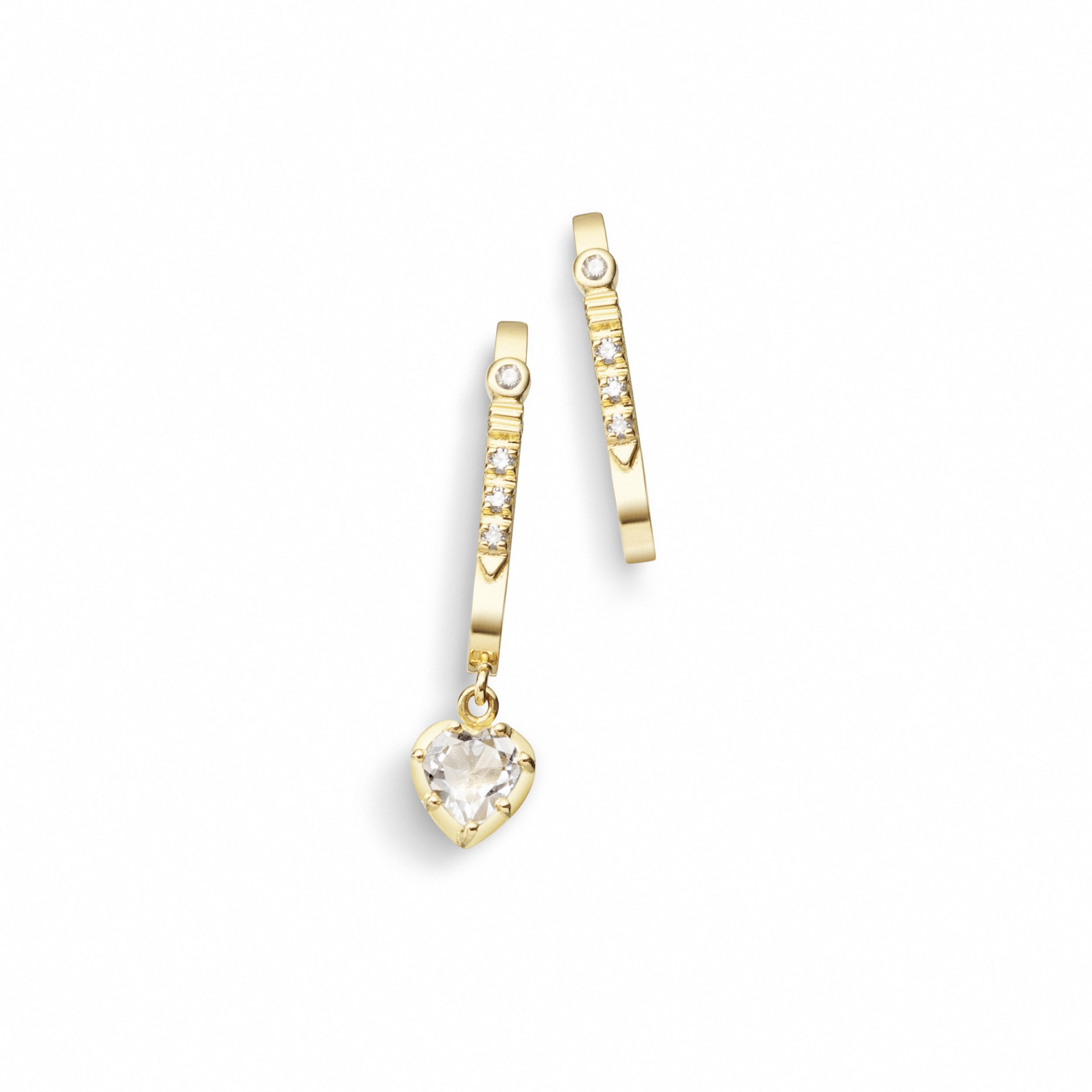 Brinco de Ouro 18K e Diamantes - Crush Collection