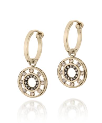 Brinco de Ouro Amarelo 18K e Diamantes - Coleção Floating Diamonds