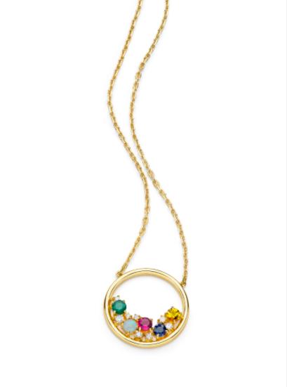 Colar Vintage Colors de Ouro 18K e Diamante - Coleção Vitrais