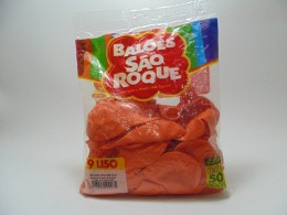 Balão São Roque Nº9 C/ 50  - Laranja