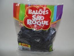 Balão São Roque Nº9 C/ 50  - Preto Ébano