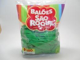 Balão São Roque Nº9 C/ 50  - Verde Maçã