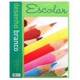Bloco Acervo Escolar A4 Branco 20 Folhas Desenho