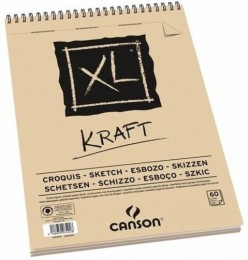 Bloco (caderno) Canson 90 gms. Kraft XL A-3