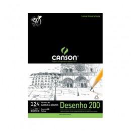 Bloco Canson A2 Branco 20 Folhas Desenho 200
