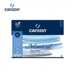 Bloco Canson A4+ Branco 12 Folhas Montval Aquarela