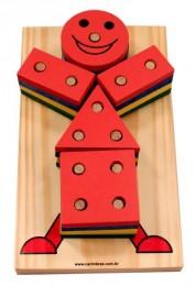 Boneco Geométrico Carimbras Ref. 4125