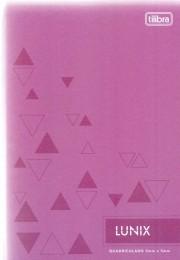 Caderno Lunix 1/4 Tilibra Quadriculado 5 mm x 5 mm Lilás