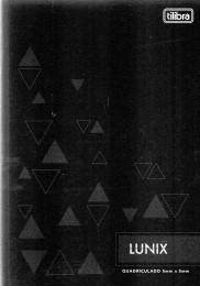 Caderno Lunix 1/4 Tilibra Quadriculado 5 mm x 5 mm Preto