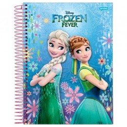 Caderno Univ Frozen Fever 200 folhas 10 Matérias Jandaia