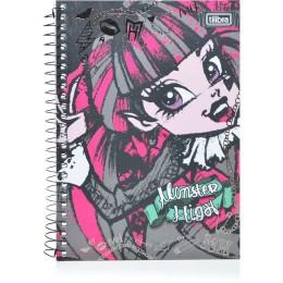 Caderno Univ Monster High 200 folhas10 Matérias Tilibra