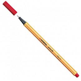 Caneta Hidrográfica Stabilo point 88/40 - Vermelha