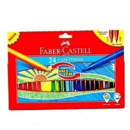 Canetinhas FaberCastell Ponta Vai e Vem 24 cores 15.0124VVZF