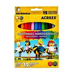 Canetinhas Hidrográficas Acrilex c/ 12 cores 06922