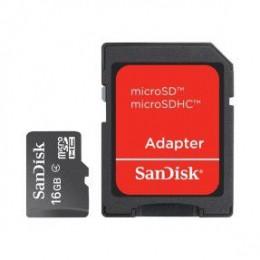 Cartão De Memória 16GB SanDisk microSDHC