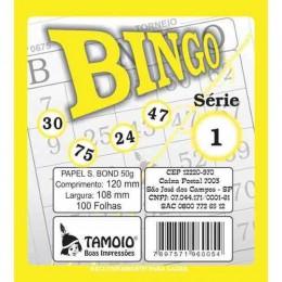 Cartela De Bingo Tamoio Amarelo PACK COM 15 UNIDADES