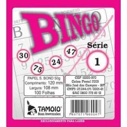 Cartela De Bingo Tamoio Rosa PACK COM 15 UNIDADES