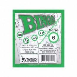 Cartela De Bingo Tamoio Verde PACK COM 15 UNIDADES
