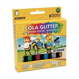 Cola Glitter Acrilex c/ 6 cores 02923