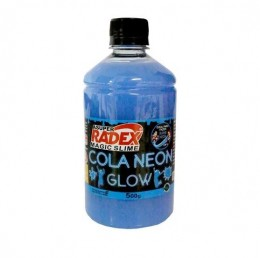 Cola Neon Radex Magic Slime 500g - Azul