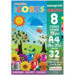 Coleção Eco Cores 8 Cores Viva A4 75g 32 Fls. NovaPrint