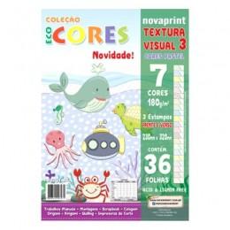Coleção Eco Cores Textura Visual 3 A4 Novaprint