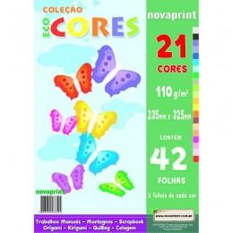 Coleção Ecocores 42fls. 21cores 235 x 325 Novaprint