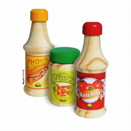 Comidinhas NewArt Toy's Ketchup Mostarda Maionese Ref. 403
