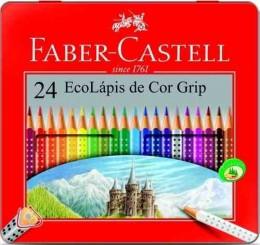 EcoLápis de Cor Grip 24 Cores Faber-Castell 121024LT