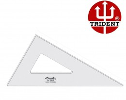 Esquadro de Acrílico Trident 16cm - sem Escala - Ref.2616