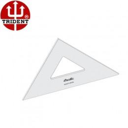 Esquadro de Acrílico Trident 32cm - sem Escala - Ref.2532