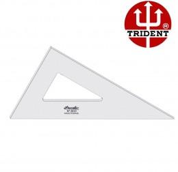 Esquadro de Acrílico Trident 32cm - sem Escala - Ref.2632