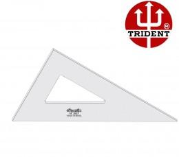 Esquadro de Acrílico Trident 37cm - sem Escala - Ref.2637